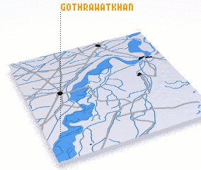 3d view of Goth Rāwat Khān