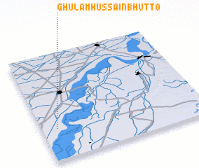 3d view of Ghulām Hussain Bhutto
