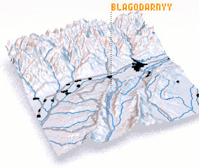 3d view of Blagodarnyy