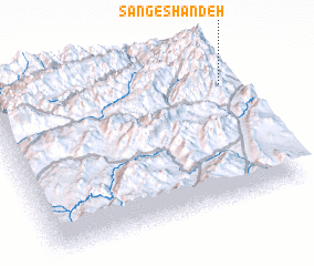 3d view of Sang-e Shāndeh