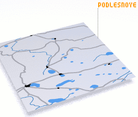 3d view of Podlesnoye
