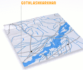 3d view of Goth Lashkar Khān