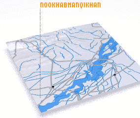 3d view of Nookhāb Manqi Khān