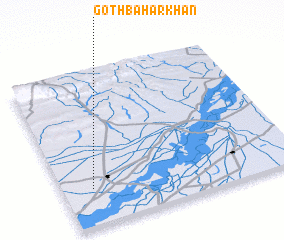 3d view of Goth Bahār Khān