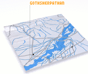 3d view of Goth Sher Pathān