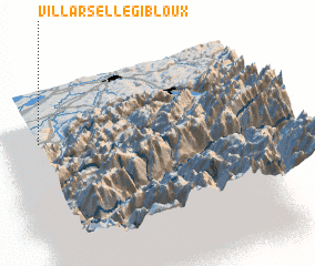 3d view of Villarsel-le-Gibloux