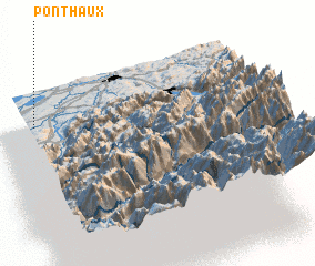 3d view of Ponthaux