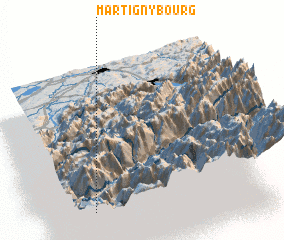 3d view of Martigny-Bourg