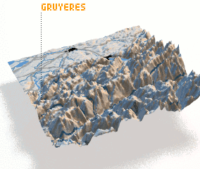 3d view of Gruyères