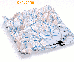 3d view of Chaudana