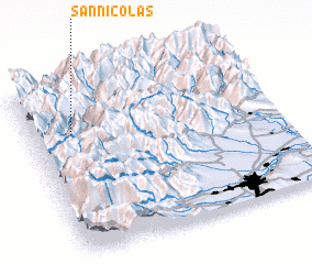3d view of San Nicolas
