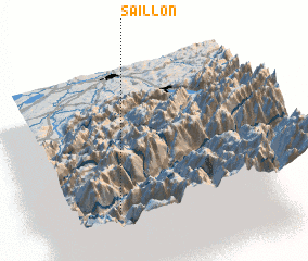 3d view of Saillon