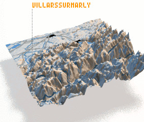 3d view of Villars-sur-Marly