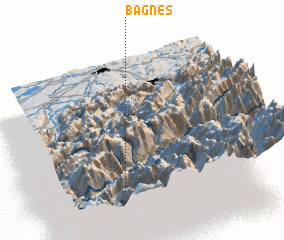 3d view of Bagnes