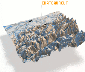 3d view of Châteauneuf