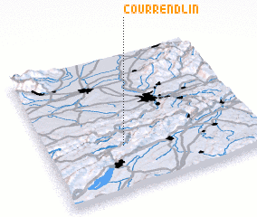 3d view of Courrendlin