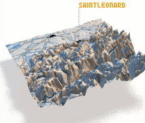 3d view of Saint-Léonard
