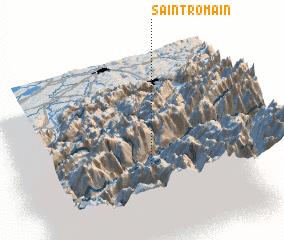 3d view of Saint-Romain