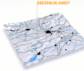 3d view of Ranspach-le-Haut