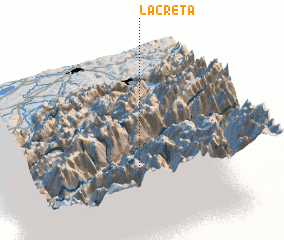 3d view of La Crêta