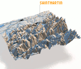 3d view of Saint-Martin