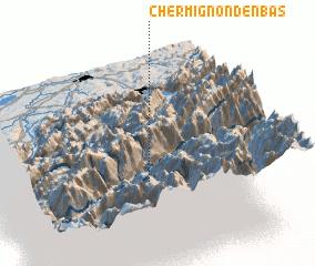 3d view of Chermignon-d'en Bas