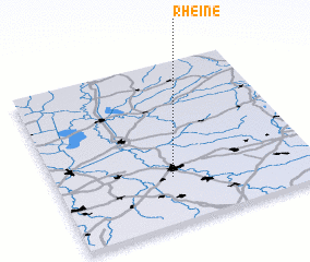 rheine germany map. Black Bedroom Furniture Sets. Home Design Ideas
