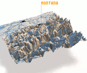 3d view of Montana