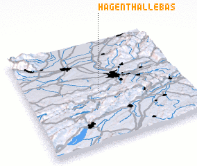 3d view of Hagenthal-le-Bas