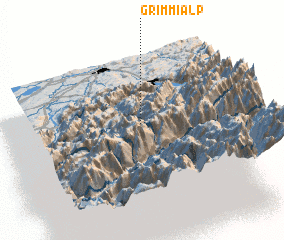 3d view of Grimmialp