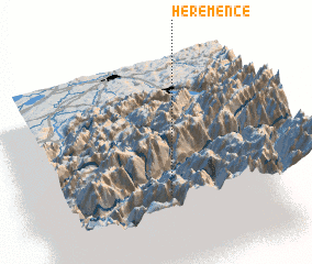 3d view of Hérémence