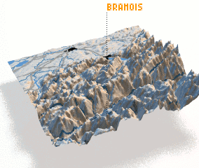 3d view of Bramois