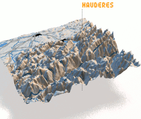 3d view of Haudères