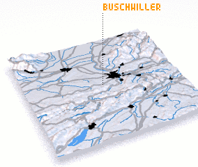 3d view of Buschwiller
