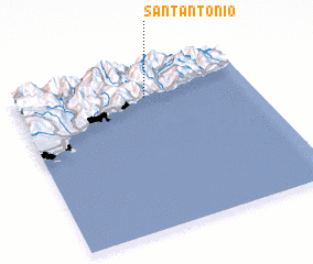3d view of Sant'Antonio