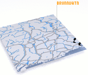 3d view of Brunnvatn