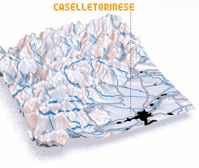 3d view of Caselle Torinese