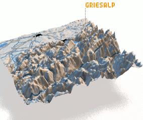 3d view of Griesalp