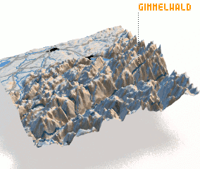 3d view of Gimmelwald