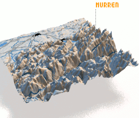3d view of Mürren