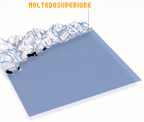 3d view of Moltedo Superiore