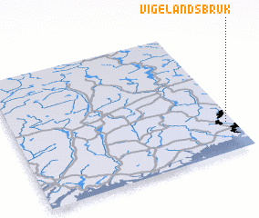 3d view of Vigelandsbruk