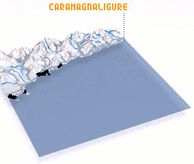 3d view of Caramagna Ligure