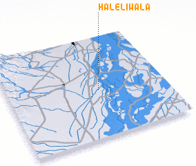 3d view of Haleliwāla