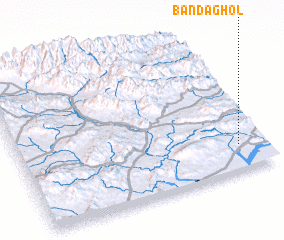 3d view of Bānda Ghol