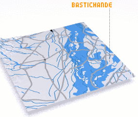 3d view of Basti Chānde