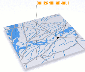 3d view of Bahrām Khān Wāli