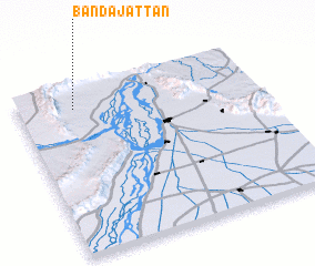 3d view of Bānda Jattān