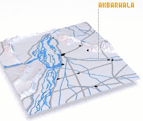 3d view of Akbarwāla