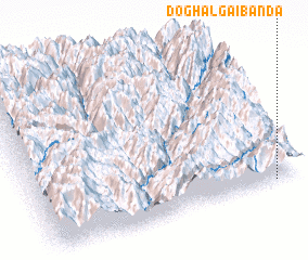 3d view of Doghalgai Bānda